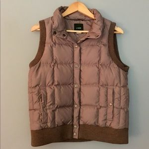 J Crew M puffy down buttoned vest